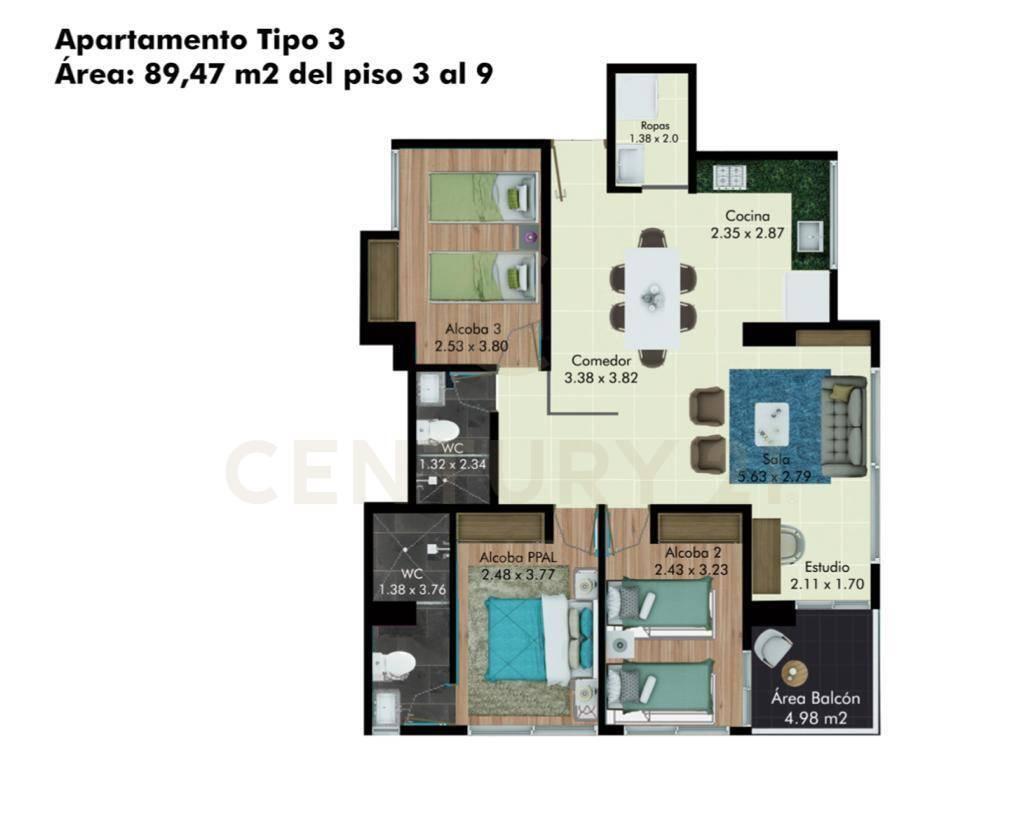 Apartamento en Armenia 117631, foto 1